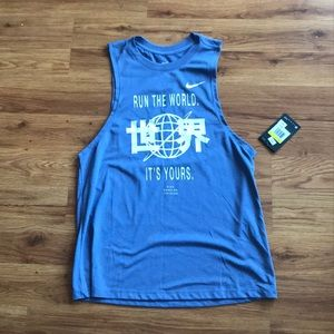 "Nike ""run the world"" tank"